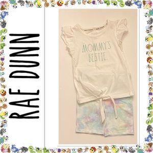 """Rae Dunn Little Girl's """"Mommy's Bestie 2-PC Set"""